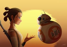 Rey and BB-8 by jpbijos.deviantart.com on @DeviantArt