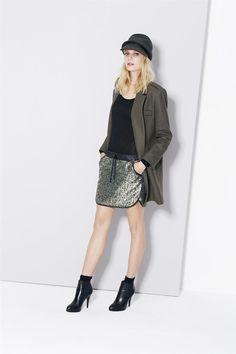cop copine JUPE FAIRLOP Jupe courte esprit sportwear chic - mélange fil  polyester métallisé et lainage 3b998cd2075