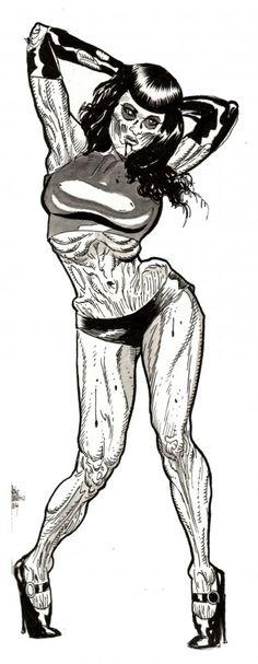 Sexy Zombie Pinup Diva : Roxi DLite 2 - Zombie Art by Rob Sacchetto Zombie Pin Up, Zombie Cartoon, Zombie Art, Girl Cartoon, Deadpool Pikachu, Espanto, Airbrush Designs, Zombie Attack, Dark Anime Girl