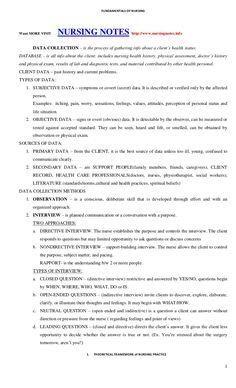 Fundamentals of nursing by grey clemente via slideshare