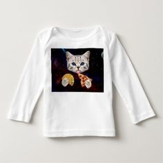 Space Cat with taco and pizza T Shirt