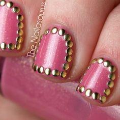 Ideas para llevar la tendencia de las #outline #glitter #nails