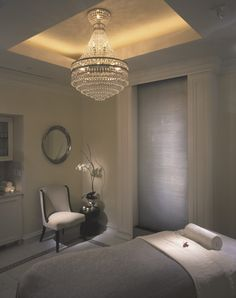 Gray and White Spa Treatment Room