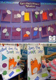 Bulletin board can help a classroom come alive. Sometimes students get to class early and they need something to do. Check out these creative math bulletin board ideas. Math Bulletin Boards, Math Boards, Pin Boards, Kindergarten Math, Teaching Math, Teaching Ideas, First Grade Math, Fourth Grade, Too Cool For School