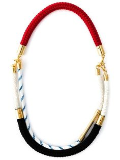 Shop Marni contrasting panel rope necklace in O' from the world's best independent boutiques at farfetch.com. Shop 300 boutiques at one address.