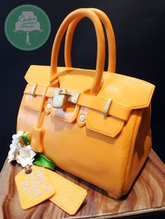 Orange Birkin. I think it would hurt me to eat this cake!