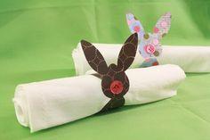 rond serviette lapin