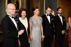 Sweden Royal Family host a Sweden Dinner at the Royal Palace, The Crown Princess is expecting her second child with Prince Daniel