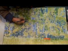 how to paint grass and trees with watercolor, a time lapse video