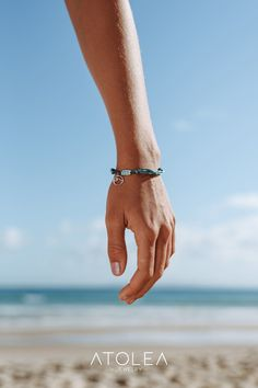 This wax coated bracelet is 100% life & water-proof so go surf, snowboard, explore with them on. It's the perfect touch for a surf-ready style! Get this ocean jewelry now and help save the ocean. We donate 15% of our profits to Ocean conservation charities.