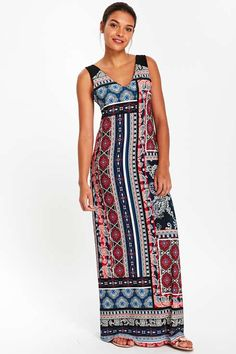 Petite Red Paisley Maxi Dress