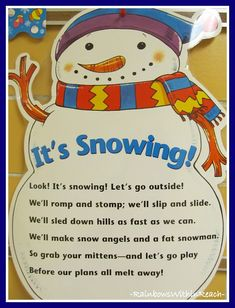 Winter Poem Anchor Charts