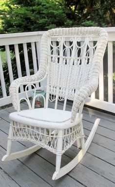 savannah white wicker rocker home design pinterest rocking