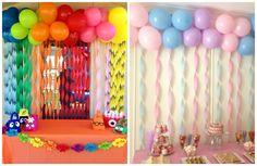 Painel decorativo com balões para festa infantil