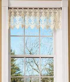 Macrame Medallion Tailored Valance by Country Curtains - Pinned from iCatalog™