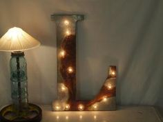 Letter light fixture custom listing & by InTheWriteHands