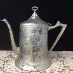 Silver Teapot Vintage Tea Pot Silverplate Pitcher Vintage