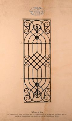 Can I paint this on a fence or wall? Window Grill Design Modern, Grill Door Design, Iron Window Grill, Iron Gate Design, Iron Windows, Wrought Iron Doors, Railing Design, Iron Art, Iron Decor