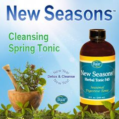 Begin any season with renewed zest as you cleanse your body of accumulated toxins with this all-natural herbal tonic! New Seasons aids in digestion and assists in clarifying the whole system. #NewYearNewYou http://www.baar.com/Merchant2/merchant.mvc?Screen=PROD&Product_Code=5450