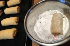 Povidlové válečky ze zakysané smetany – RECETIMA Nutella, Camembert Cheese, Ham, Dairy, Food, Sweet Cookies, Top Recipes, Plum Jam, Food Food
