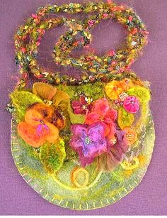 Adorable felted fairy purse