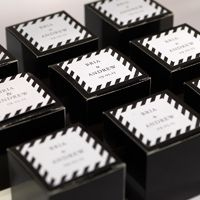 Vignette Personalized Favor Box eInvite Wedding Wedding Day Accessories Favors from Checkerboard available to order from Note Worthy
