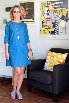 Herzenssachen Chambray-Dress, DIY