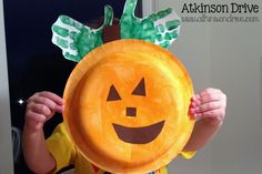 {Handprint} Paper Plate Pumpkins; I am doing this next week!!