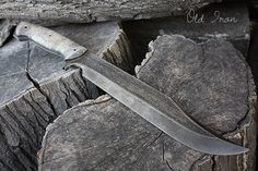 """Handcrafted blade FOF """"Old Iron"""" full tang modern bowie knife"""
