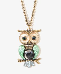 Owl Necklace | FOREVER21 - 1002928359