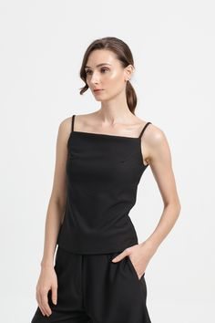 Affordable Fashion, Camisole Top, Spring Summer, Tank Tops, Knitting, Clothes, Black, Dresses, Women