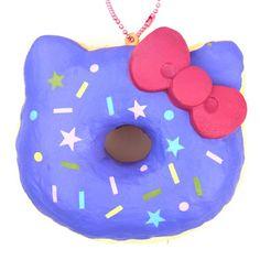purple colorful star shape Hello Kitty donut squishy charm 2