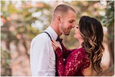 Romantic Winter Engagement Session in the woods. red bohemian whimsical Elizabeth Henson PhotosCarolyn & Sterling - Woodsy Winter engagement session - Chesapeake Virginia - Elizabeth Henson Photos