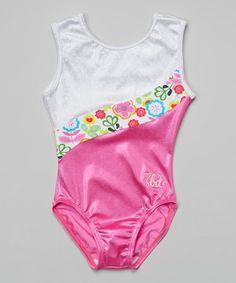 This SBD Sportswear Hot Pink & White Flower Kaitlyn Leotard - Toddler & Girls by SBD Sportswear is perfect! #zulilyfinds