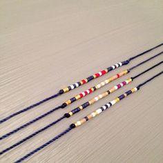bracelet de chaîne marine amitié bracelet souhait bracelet meilleur amie Bracelet est fait dun Miyuki Delica perles et fil de soie. Ce bracelet