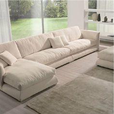 圣米洛 现代布艺沙发L型 含羽绒转角布艺沙发 小户一型软沙发组合-淘宝网