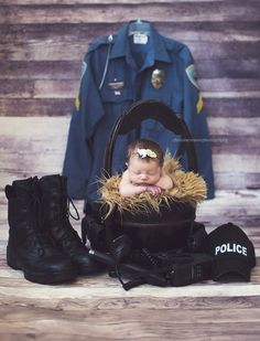 Newborn photography  Police
