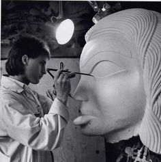 1991Doug-working-on-the-Black-Canoe-Dogfish-woman - Doug Zilkie Born in the Comox Valley in 1961, Doug has carved in the Haida style since he was 16 years of age. He has gained valuable experience by working with such artists as Bill Reid, Don Yeomans, and Glen Rabena.