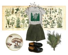 """CXLXVII"" by historiamordercy ❤ liked on Polyvore featuring H&M, Dr. Martens, vintage, DrMartens, grunge, nature and forest"