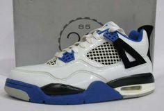 bd35043e6f0985 Air Jordan 4 Retro White Black Blue