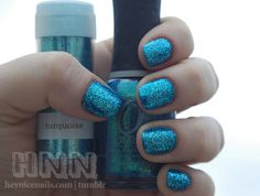 """mermaid nails"" sparkle nail polish and similar glitter. must try."