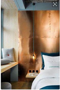 Copper Headboard Wall | #Copper