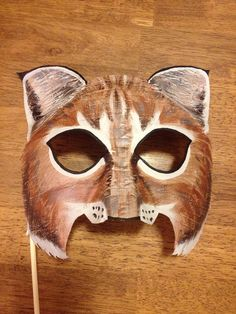 Bobcat mask lynx mask by HighMoonCreations on Etsy