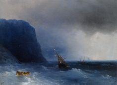 """Ivan #AIVAZOVSKY, """"THE SURVIVORS"""" 1876 #art #artwit #twitart #iloveart #artist #followart #painting"""