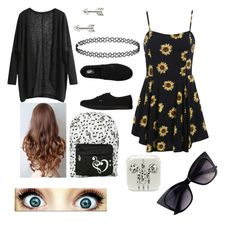 First day of HS? by kateeeeeeeeeeee on Polyvore featuring polyvore, fashion, style, Vans, Topshop and Tomas