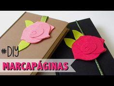 DÍA DEL LIBRO - MARCAPÁGINAS CON FORMA DE ROSA - YouTube