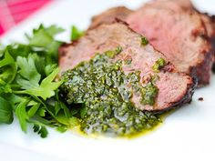 The {UN}eventful Life: Garlic Lime Flank Steak with Chimichurri