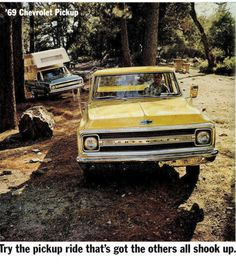 """September 16th is General Motors' 105th birthday.    This vintage 1969 #GM advertisement features the second generation #Chevrolet Pickup.  The '69's new engine and grille design had all other trucks of the time """"shook up.""""                                                                                                   Fitzpatrick Auto Center Inc.                                              • 1 year ago                                                                                                   GM ad"""