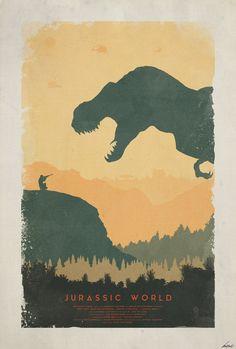 Creation - Jurassic World Poster by edwardjmoran