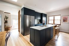 Renovation completed in Malvern East Melbourne. Design by Eat Bathe Live. Kitchen Interior, Kitchen Decor, Kitchen Design, Kitchen Dining Living, Living Room, Home Office Space, Kitchen Organization, Home Kitchens, Kitchen Remodel